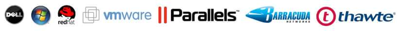 partners Dell, Microsoft, Red Hat,  VMware, Parallels, Barracuda Networks, Thawthe